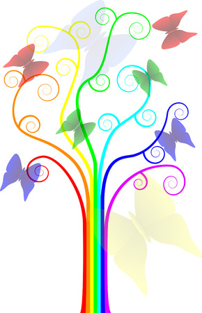 cheery: Cheery rainbow tree