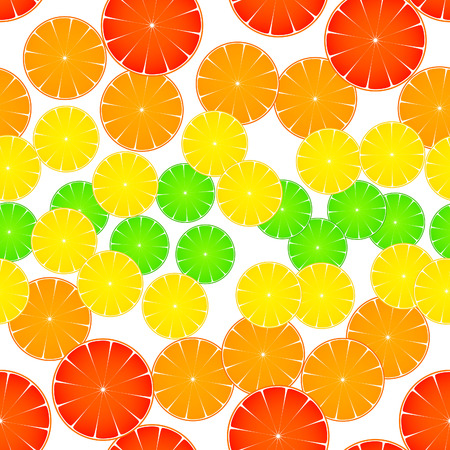 grapefruit: pattern with lime, lemon, orange and grapefruit Illustration