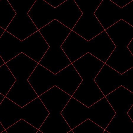 distinct: black - red simple seamless geometric pattern