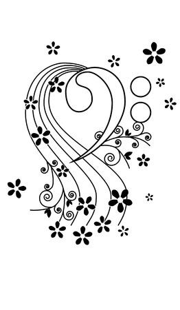 clave de fa: clave de fa con flores y evitar
