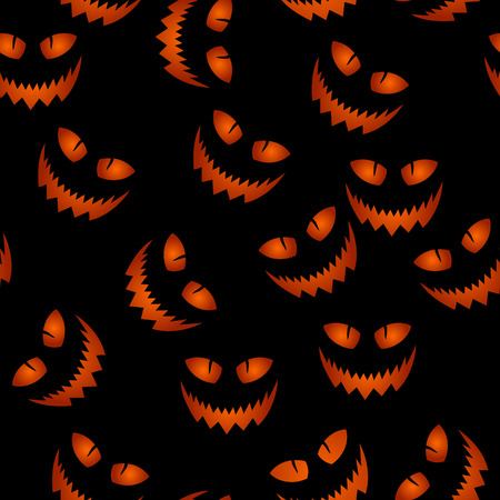haloween: seamless haloween pattern with scary pumpkin face