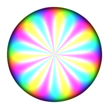 symmetry: rainbow-like central symmetry circle - CMYK model