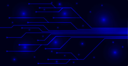 blue dark personal computer motherboard Reklamní fotografie