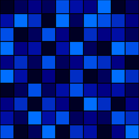 hue: seamless pattern 7 shades of blue squares