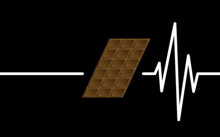 beating: chocolate heart beating, can not live without chocolate