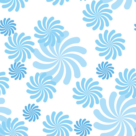 repose: blue vector pattern, blue flower geometric pattern