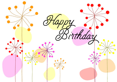 Vector Birthday Card Happy Birthday Card For Girl Royalty Free