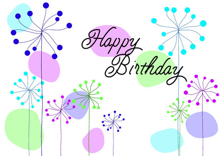 Vector Birthday Card Happy Birthday Card For Boy Royalty Free