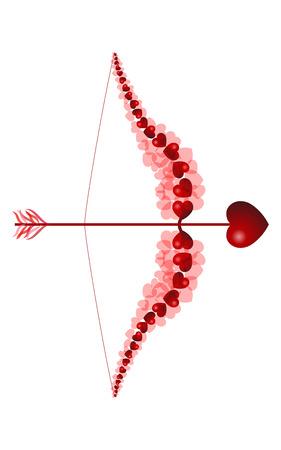 heart arrow: love bow with one heart arrow