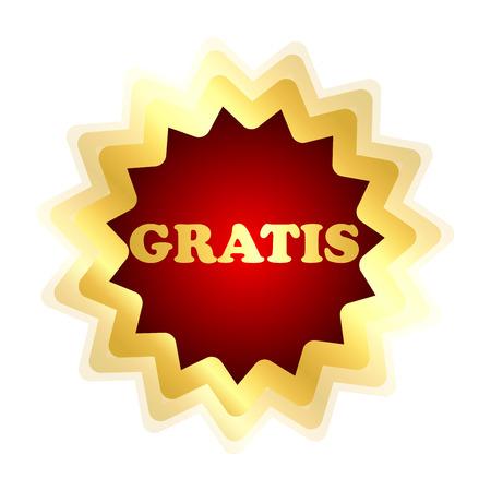 """oficinista: Compras empleado con la escritura """"GRATIS"""" Foto de archivo"""