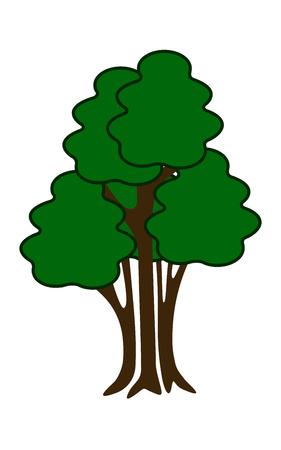 shrub: isolated simple shrub, solated green shrub