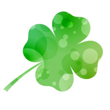designed: Isolated designed green clover
