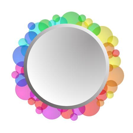 form a circle: circle form illustration with rainbow edge