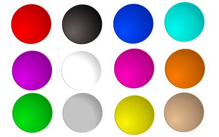lit: color circle set, lit circles Illustration