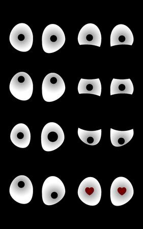 dark eyes: eyes in the dark with various mood