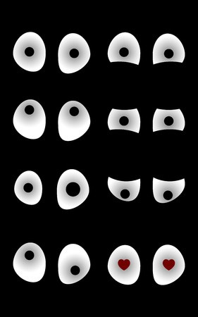 various: eyes in the dark with various mood