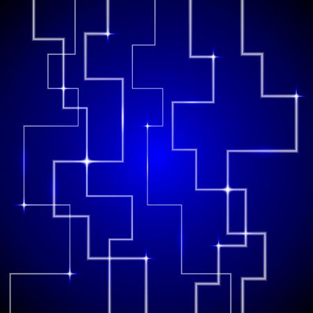 presentational: tech blue background, shining blue line background