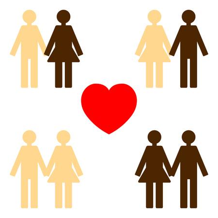 tolerance: love between various colors of skin