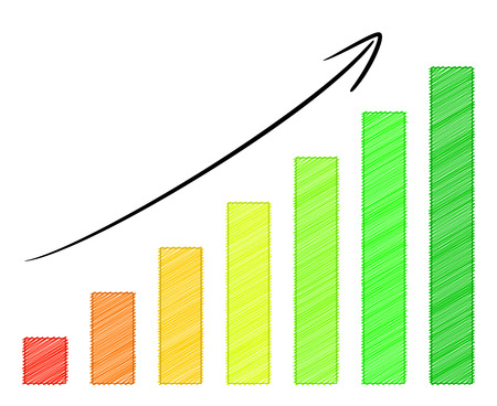 squiggles: growing profit graph with arrow