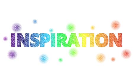 coloré INSPIRATION texte avec décoration, texte INSPIRATION