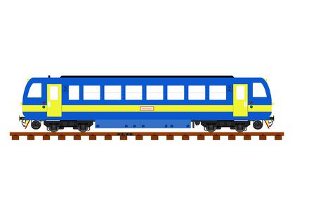 imaginary line: imaginary diesel train on rainway line