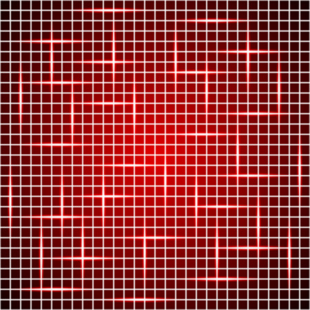 tech red background, shining red grid background