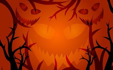 dark orange halloween scary background with space for your text