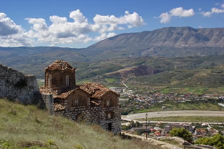 trinity: church of Holy Trinity, Berat fortress, Albania Editorial