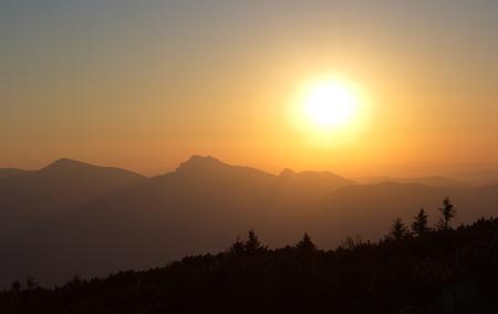 mala fatra: sunset over the mountains Mala Fatra Slovakia Stock Photo