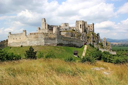 ruins of castle Beckov Slovakia photo