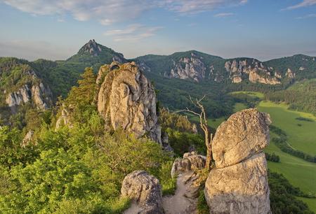 impressive: impressive, unusual rocky area in the light of summer evening, Slovakia