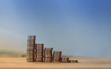 stagnation: financial pyramid from coins