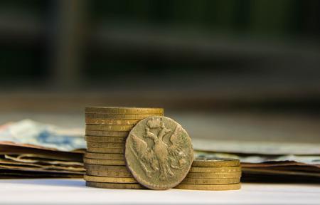 monete antiche: Antico denaro russo, monete antiche, tesoro