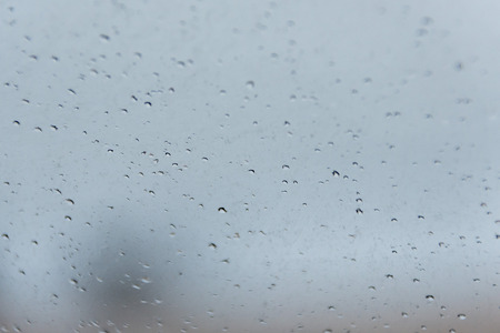 Drops on cars mirror