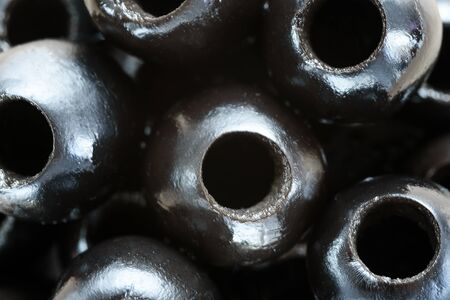 Background of pitted Olives-close-up, macro Stok Fotoğraf