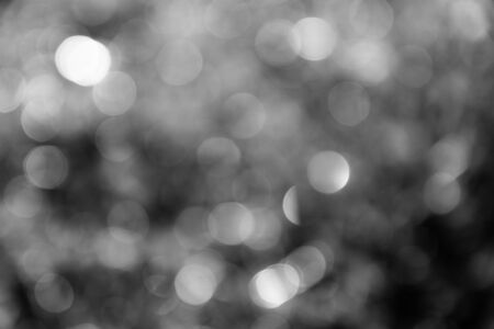 Black and white bokeh, natural background