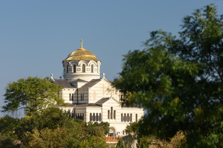 Crimea, Sevastopol, 12.09.2019: Cathedral of St. Prince Vladimir in Tauric Chersonese Editöryel