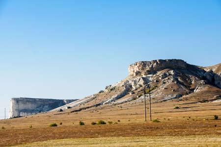 White rock in the Crimea. White rock Sights of Crimea.