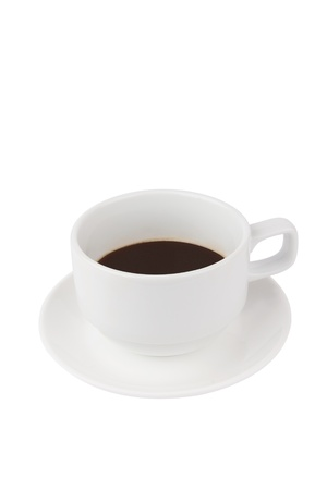 A cup of Hot coffee on white background
