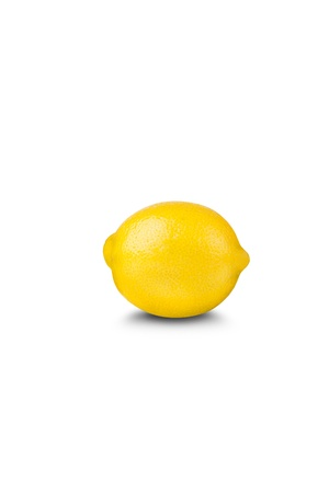 lemon on white background Stock Photo