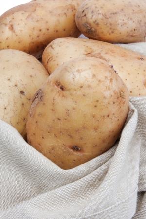 Fresh potato in a bag