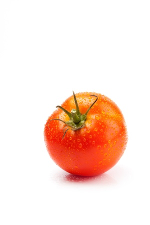 Big fresh tomato isolate on white background