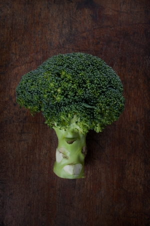 broccoli on wood background Stock Photo