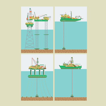 Drilling rig in the sea