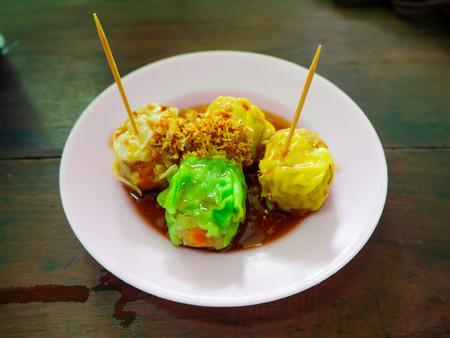 dumpling food in street thailand