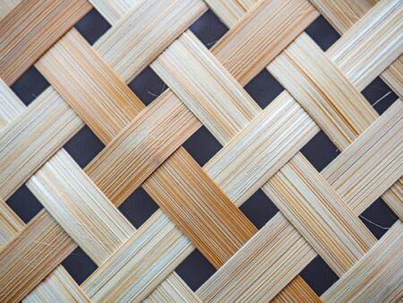 Closed up wooden weave texture background