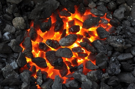 embers: fireplace embers at blacksmith Stock Photo