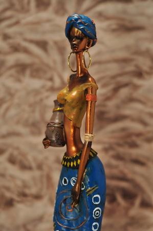 ceramic toy African girls