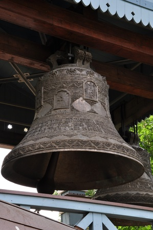 a number of bronze bells in the belfry Stock Photo - 9775077