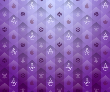 new year s day: Christmas purple background  New Year purple pattern with snowflake and snowman  Qualitative vector  EPS-10  backdrop for new year s day, christmas, decoration, winter holiday, design, new year s eve, silvester, etc Illustration